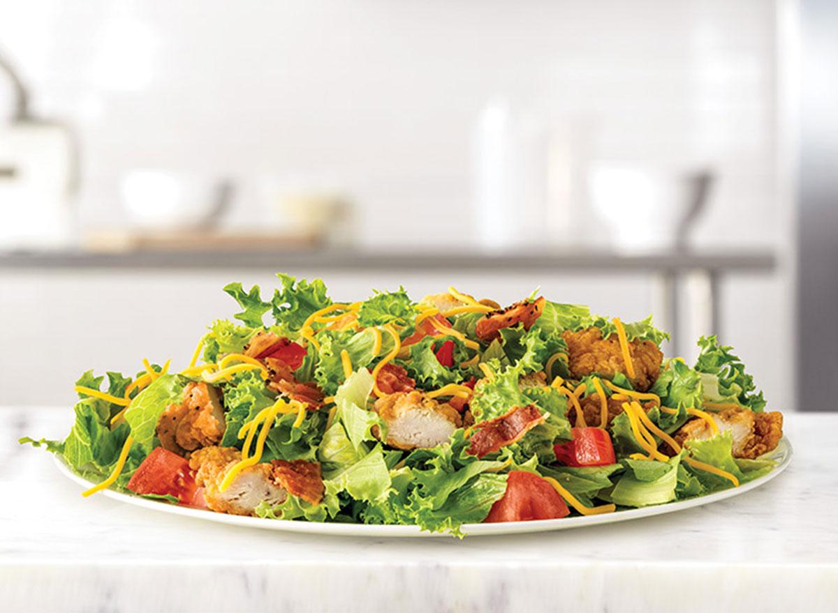 arbys crispy chicken chopped farmhouse salad