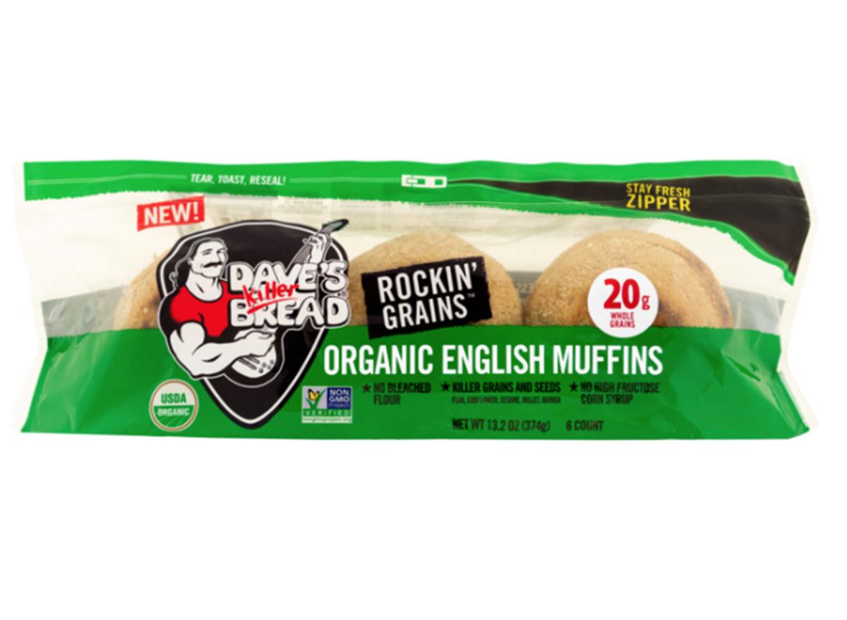 daves killer bread outta this world english muffins rockin grains bag