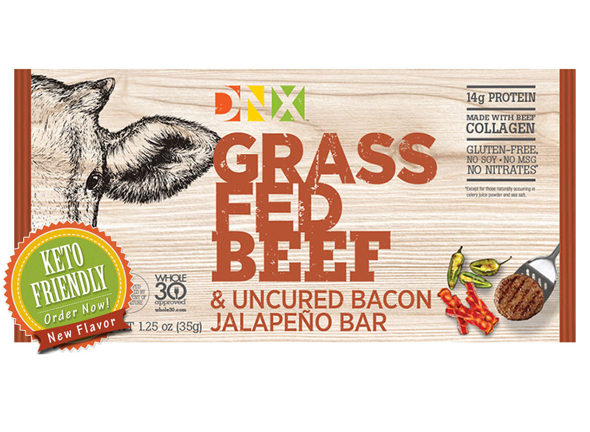 dnx grass fed beef uncured bacon jalapeno bar box