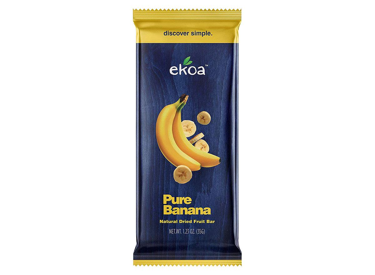 ekoa pure banana fruit bar package
