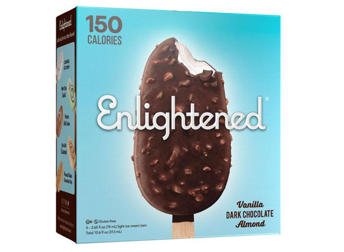 enlightened vanilla dark chocolate almond bar box