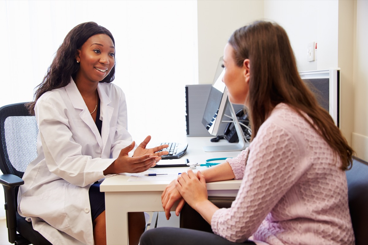 Patient Having Consultation With Female Doctor In Office