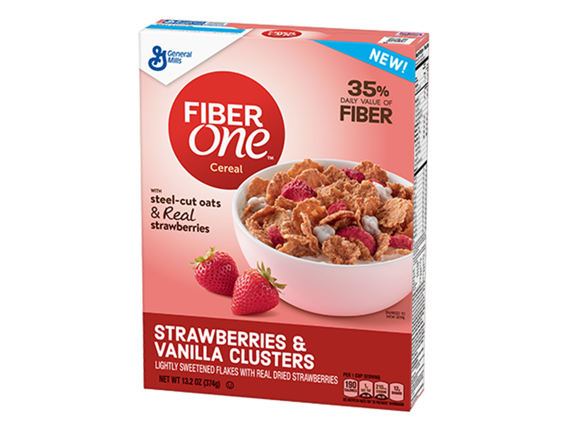 fiber one strawberries vanilla clusters box