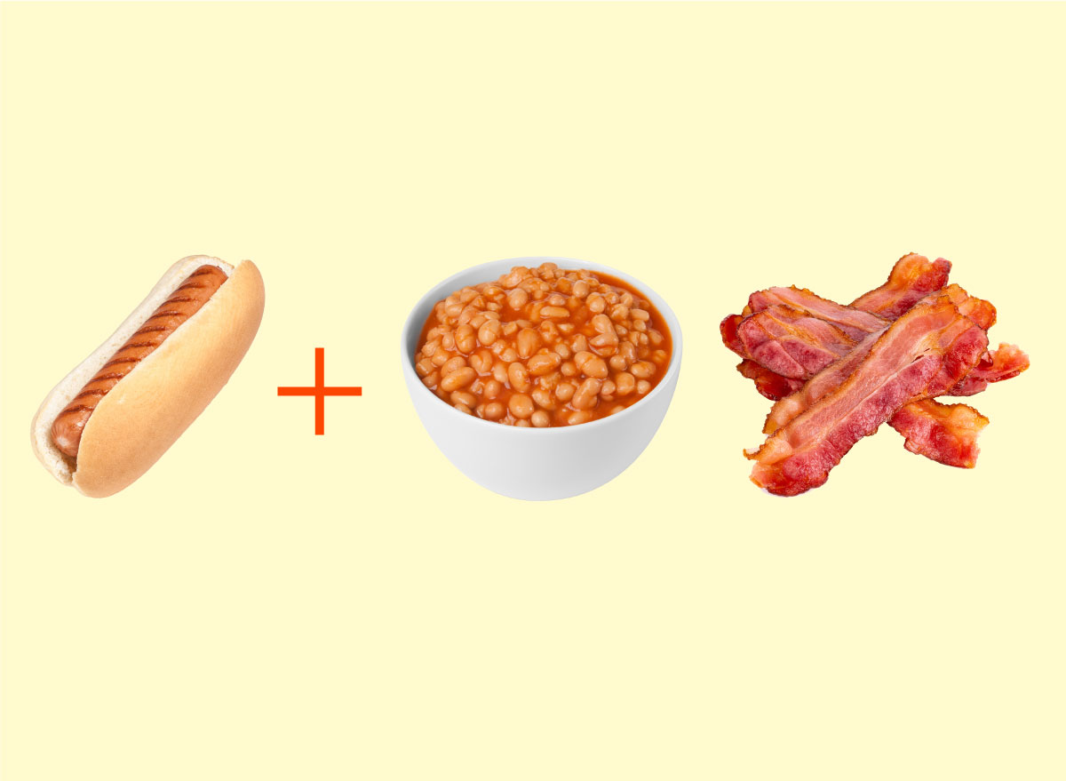 hot dog baked beans bacon combo graphic