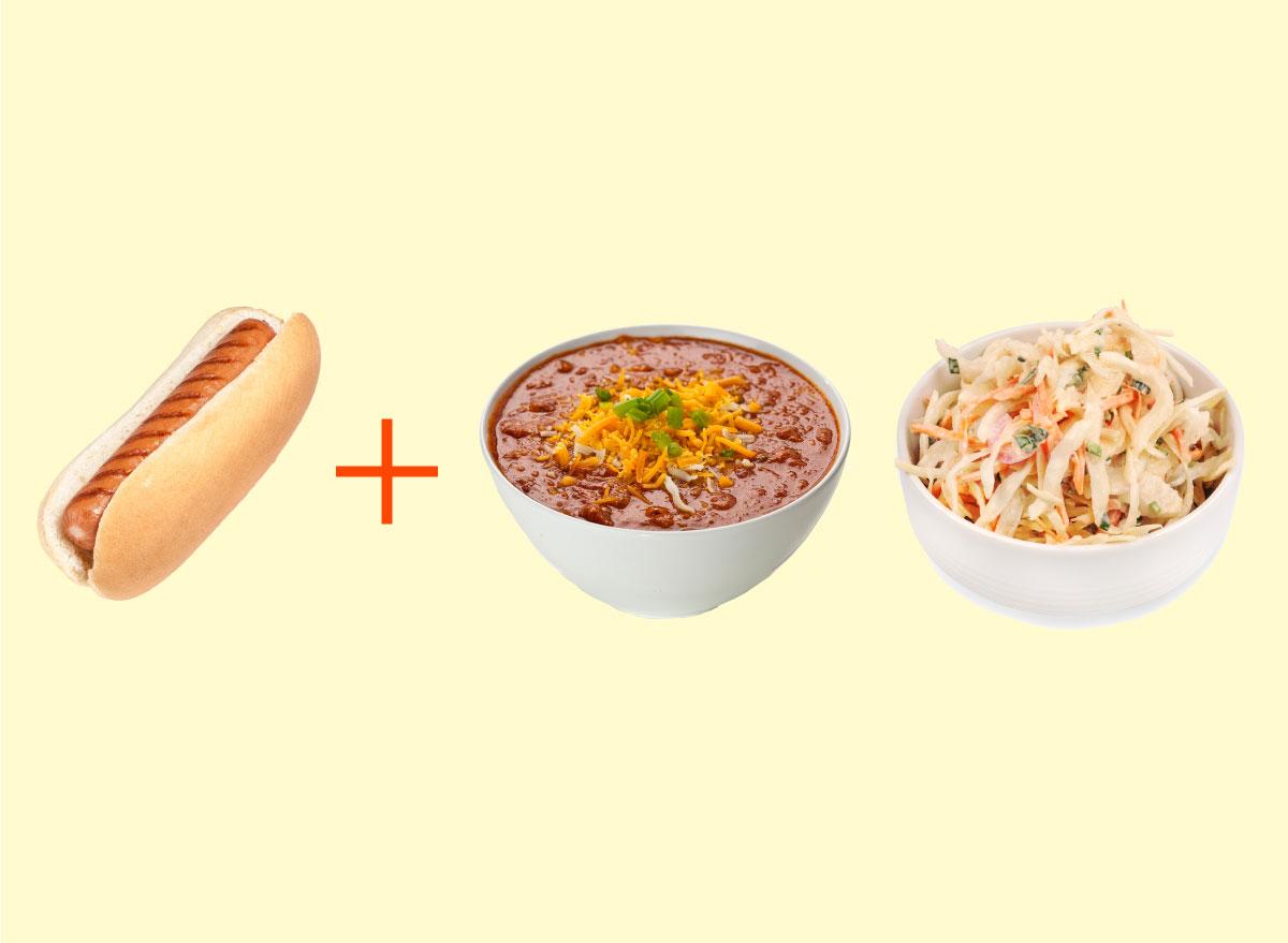 hot dog chili coleslaw combo graphic