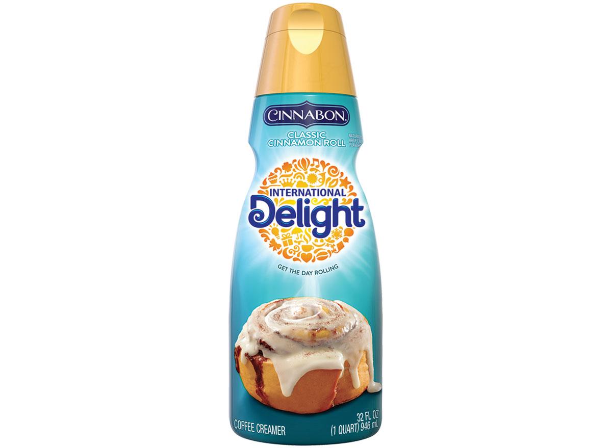 international delight cinnabon non dairy creamer bottle