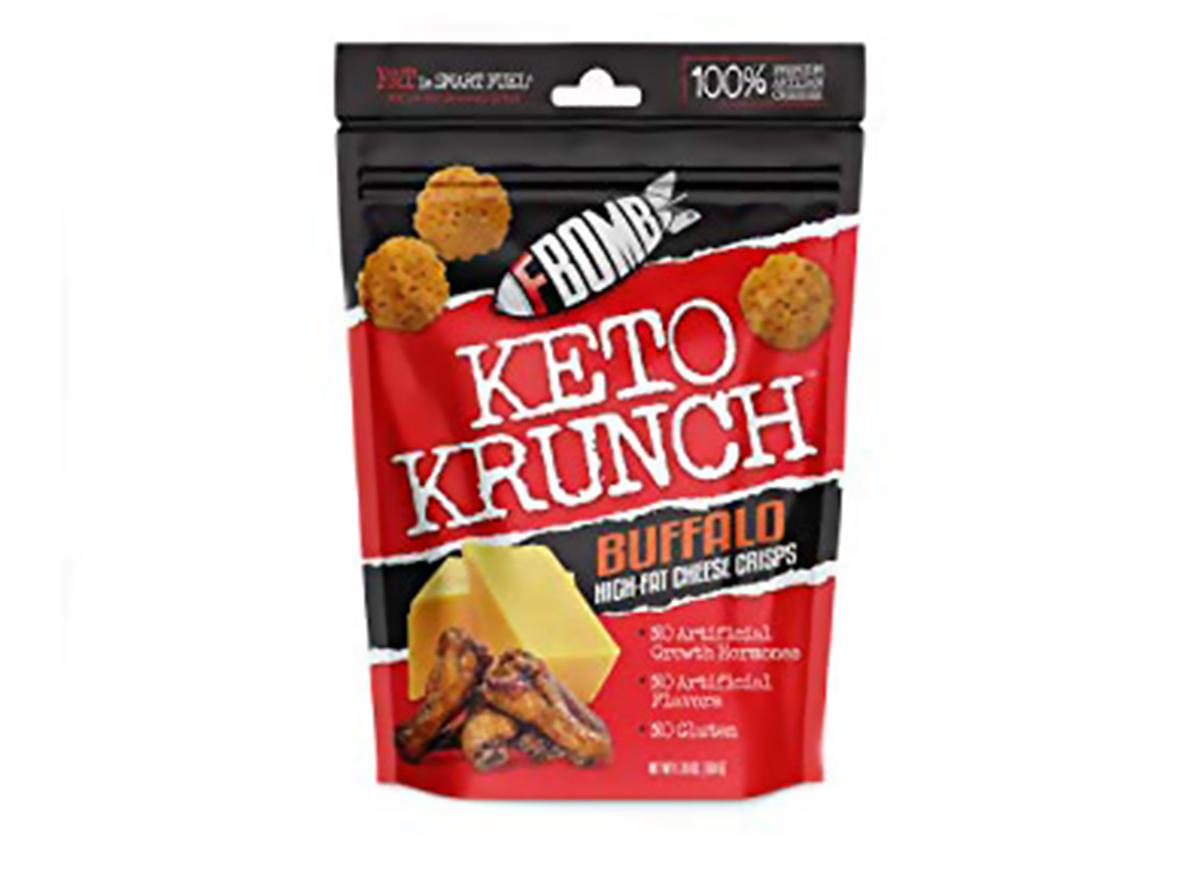 keto krunch buffalo cheese crisps