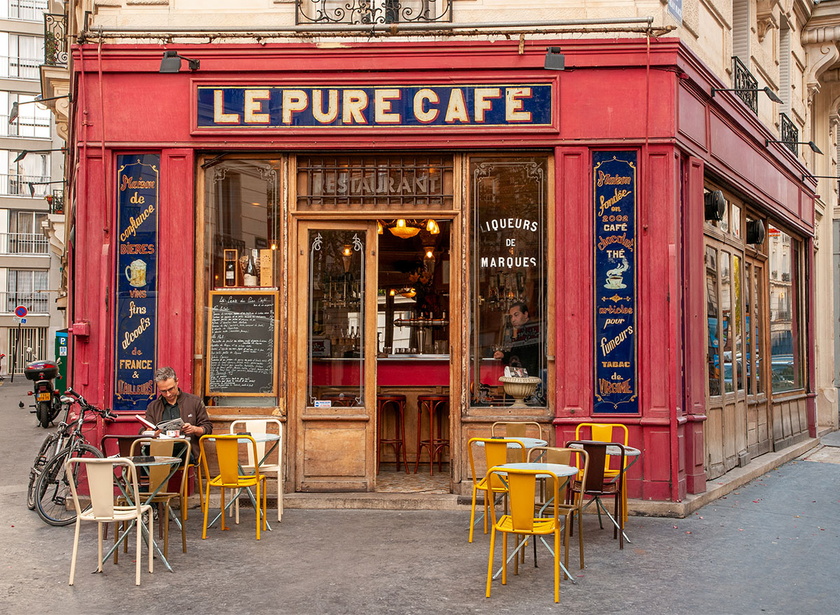 storefront of le pure cafe in paris