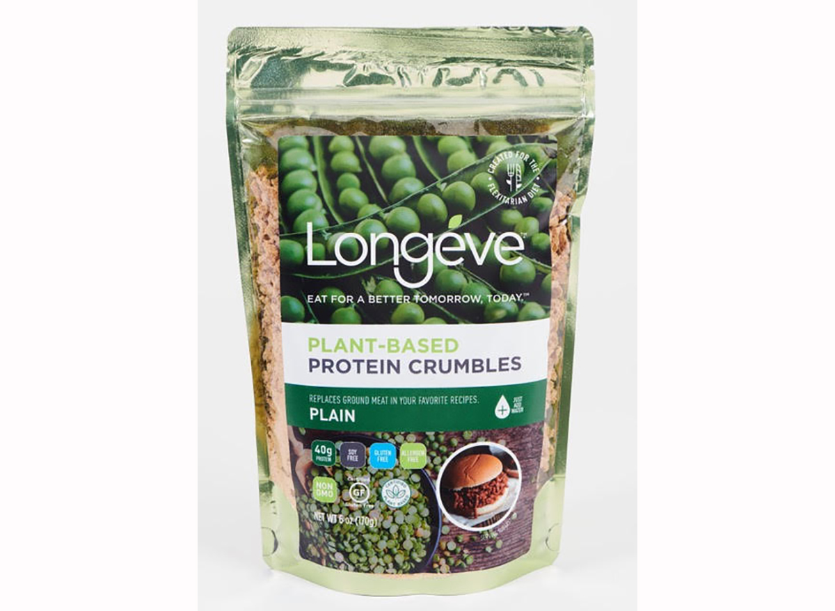 plante-based protein crumbles from longéve