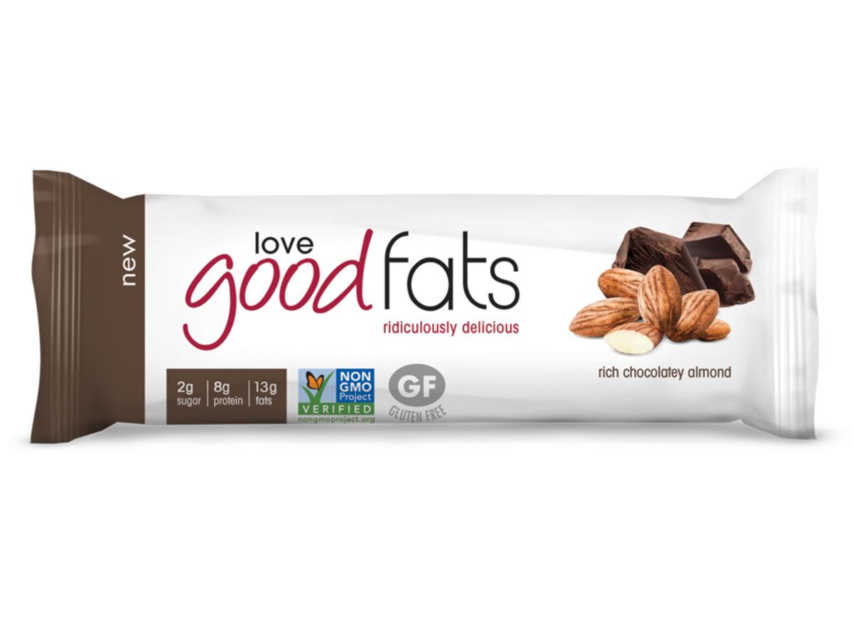 love good fats rich chocolatey almond bar