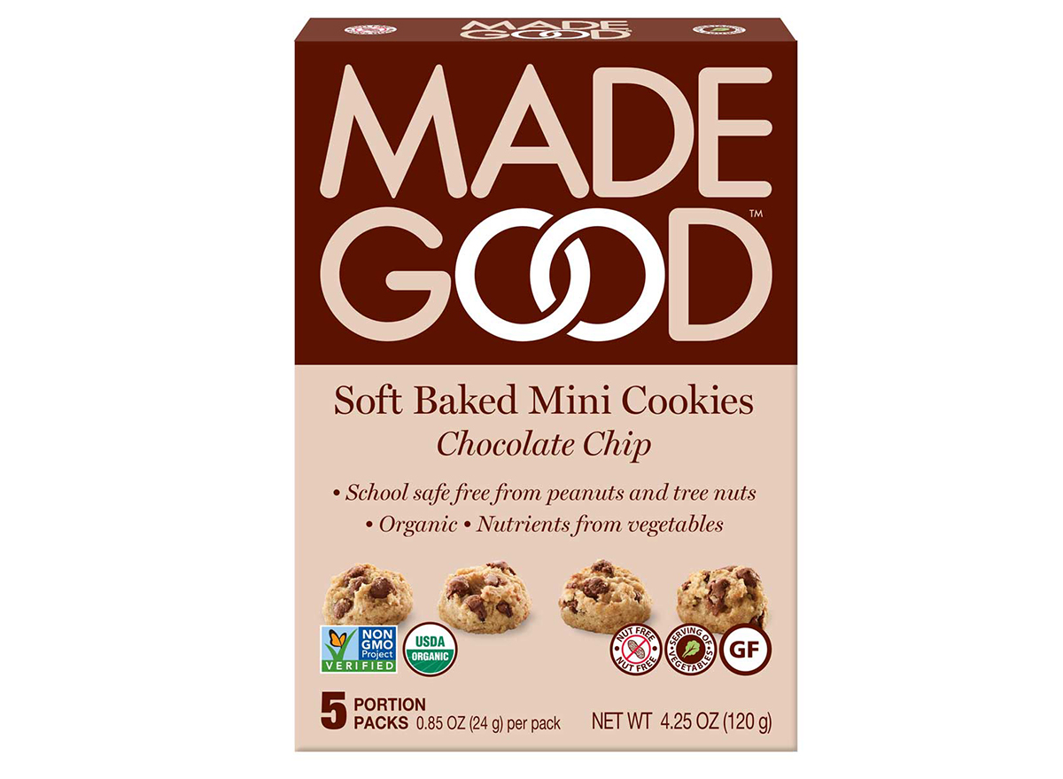 made good soft baked mini cookies chocolate chip box