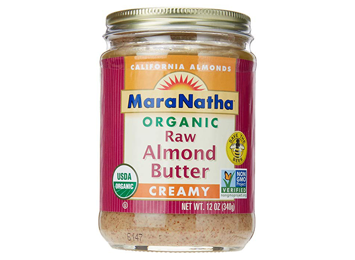 mara natha organic raw almond butter no salt creamy