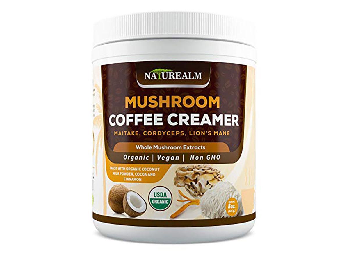 naturealm mushroom coffee creamer tub