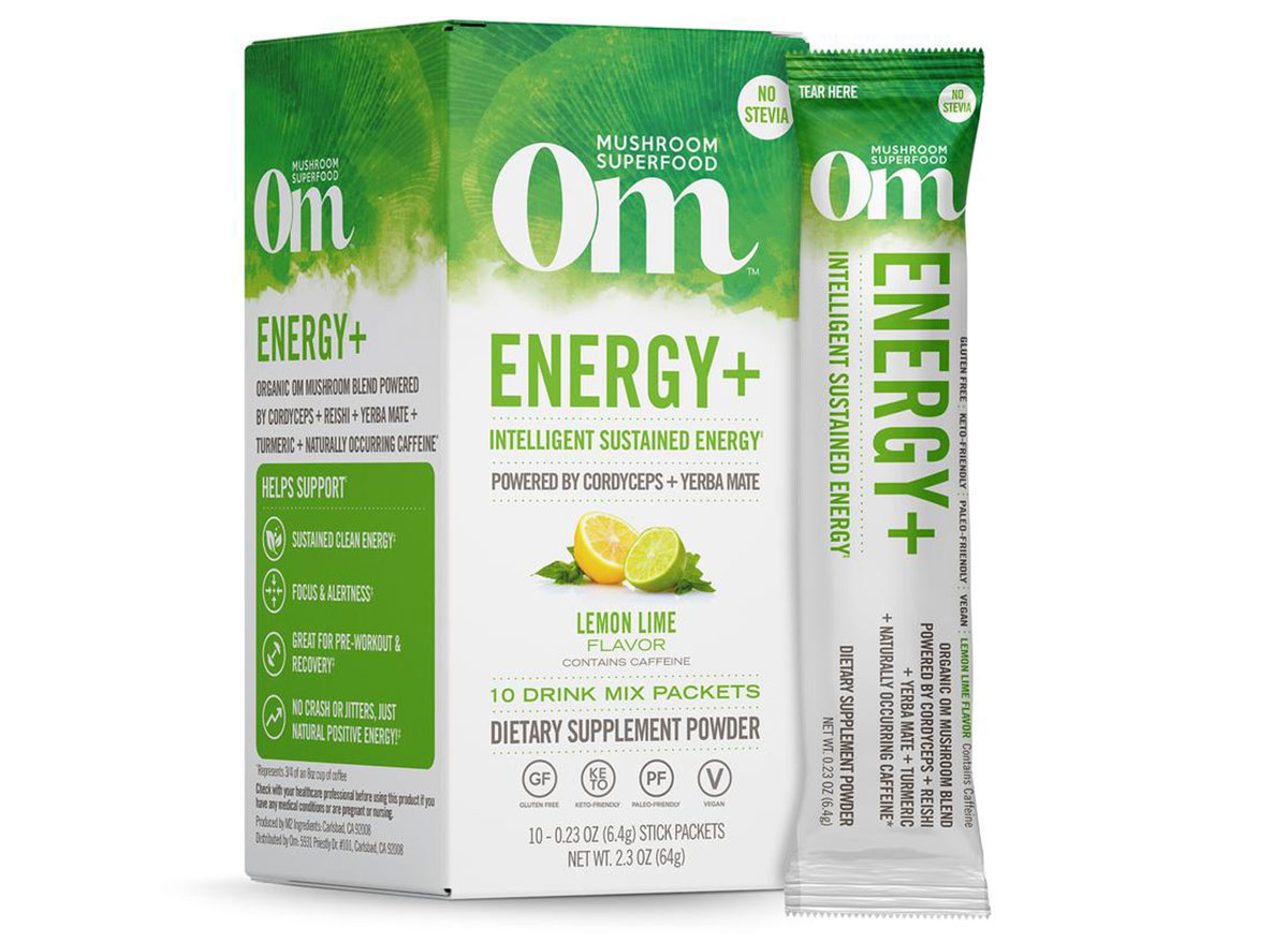 om mushrooms functional drinks sticks energy box mix