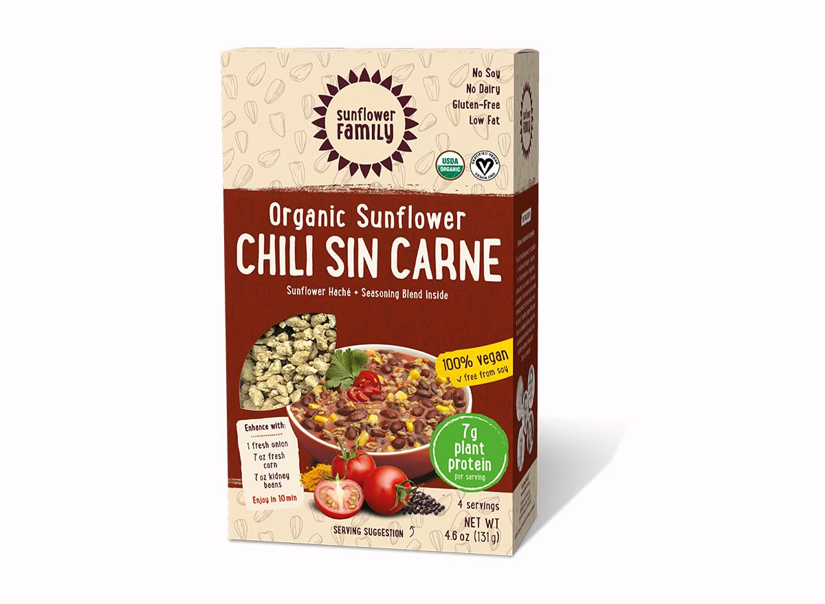 organic sunflower seed chili sin carne