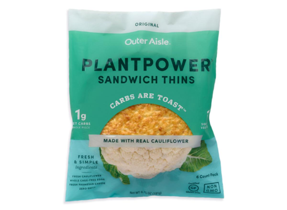 outer aisle cauliflower plant power sandwich thins