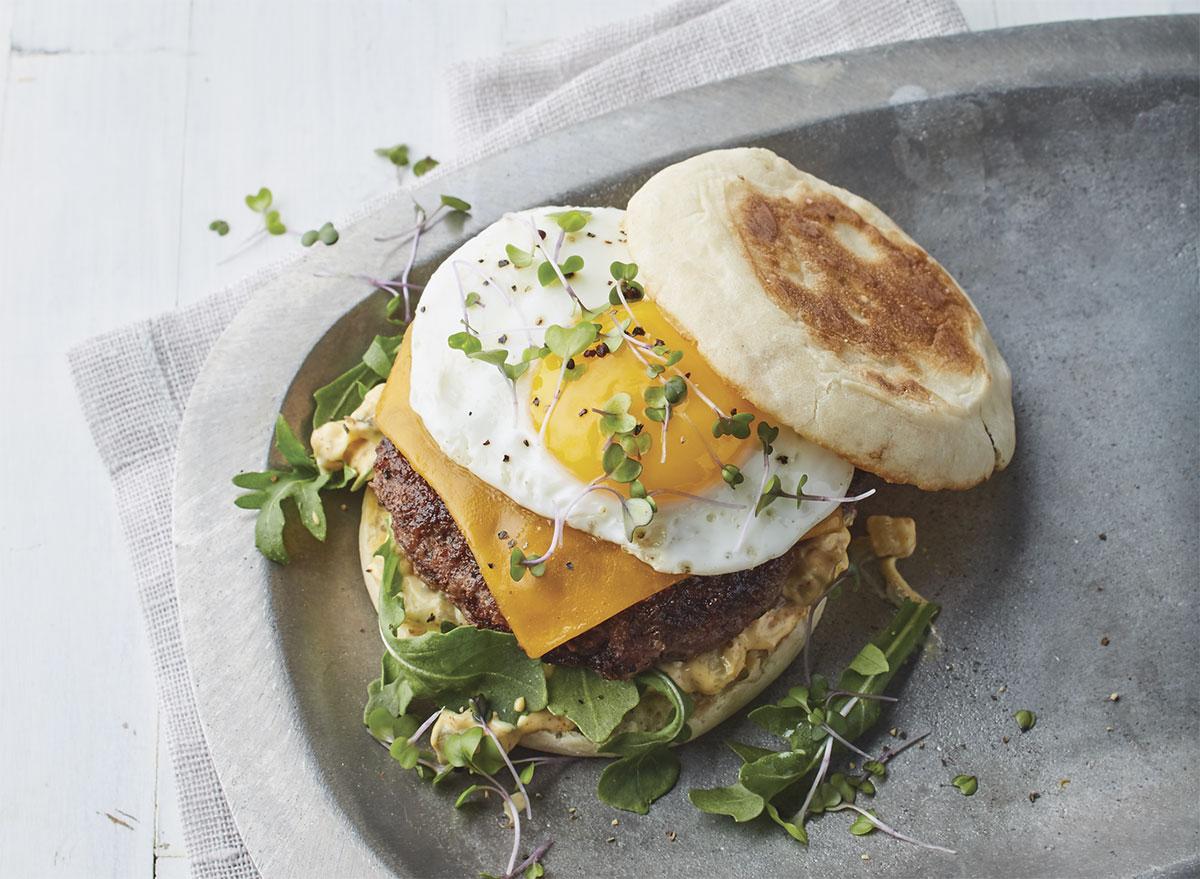 pan burgers fried egg special sauce