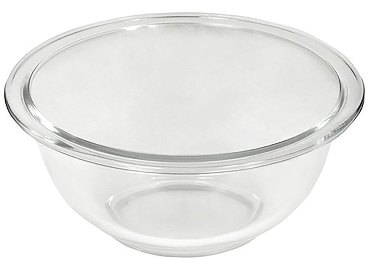 empty pyrex glass mixing bowl