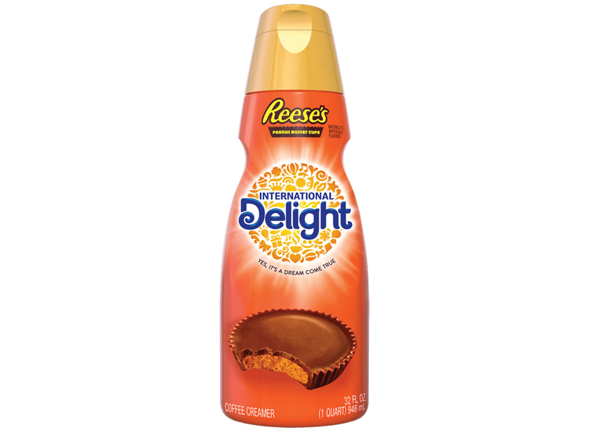 international delight reeses peanut butter cup coffee creamer bottle