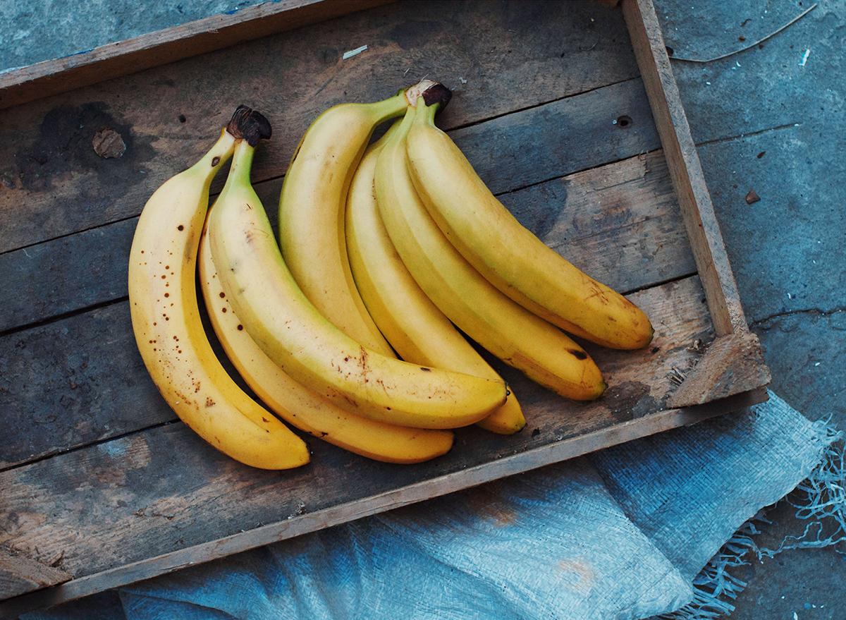 Bananas on a tray