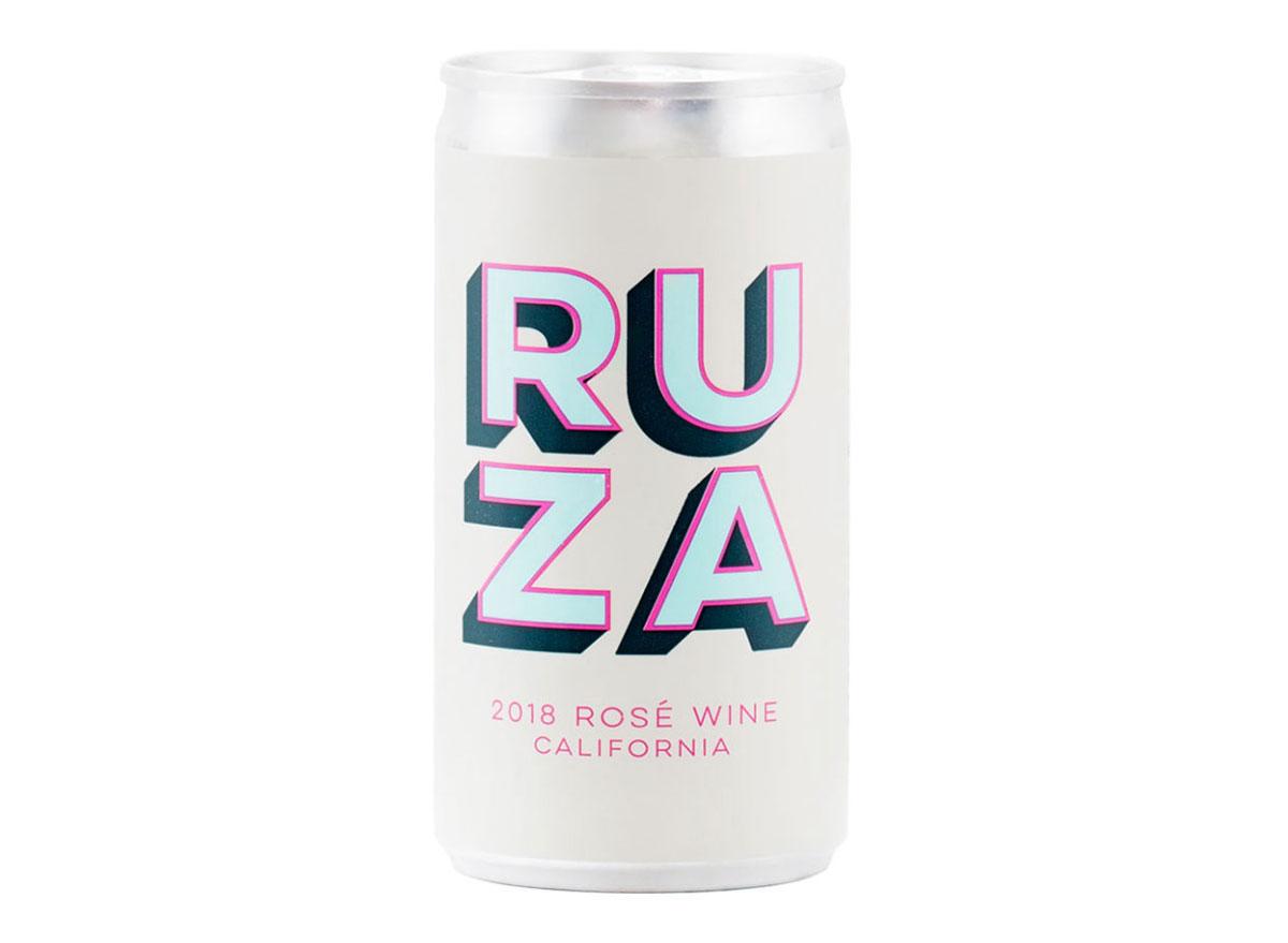 ruza rose canned wine