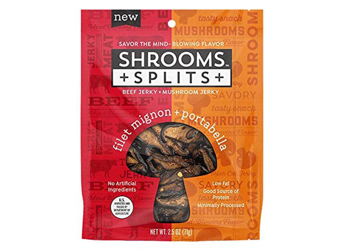 shrooms snacks splits jerky filet mignon portabella flavor bag