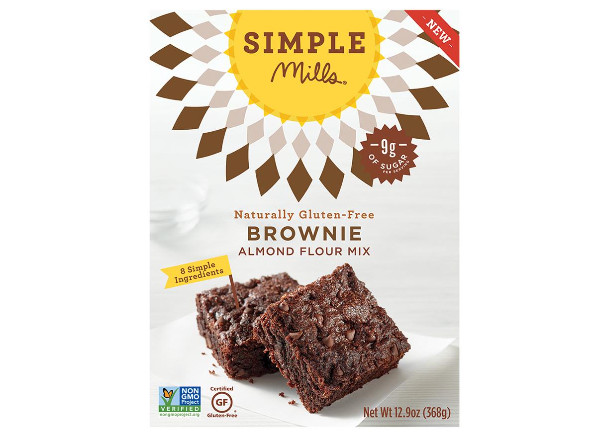 simple mills brownie almond flour mix box