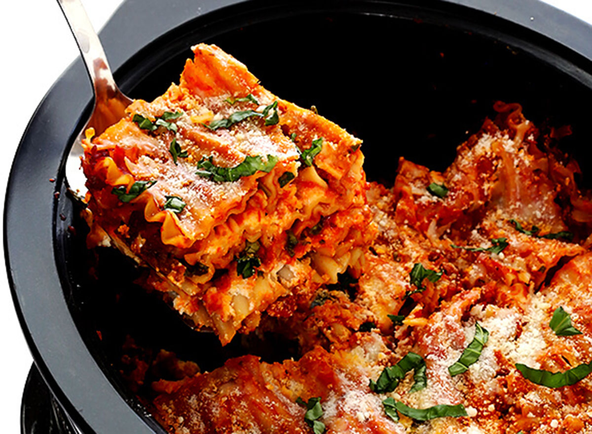 slow cooker lasagna gimme some oven recipe
