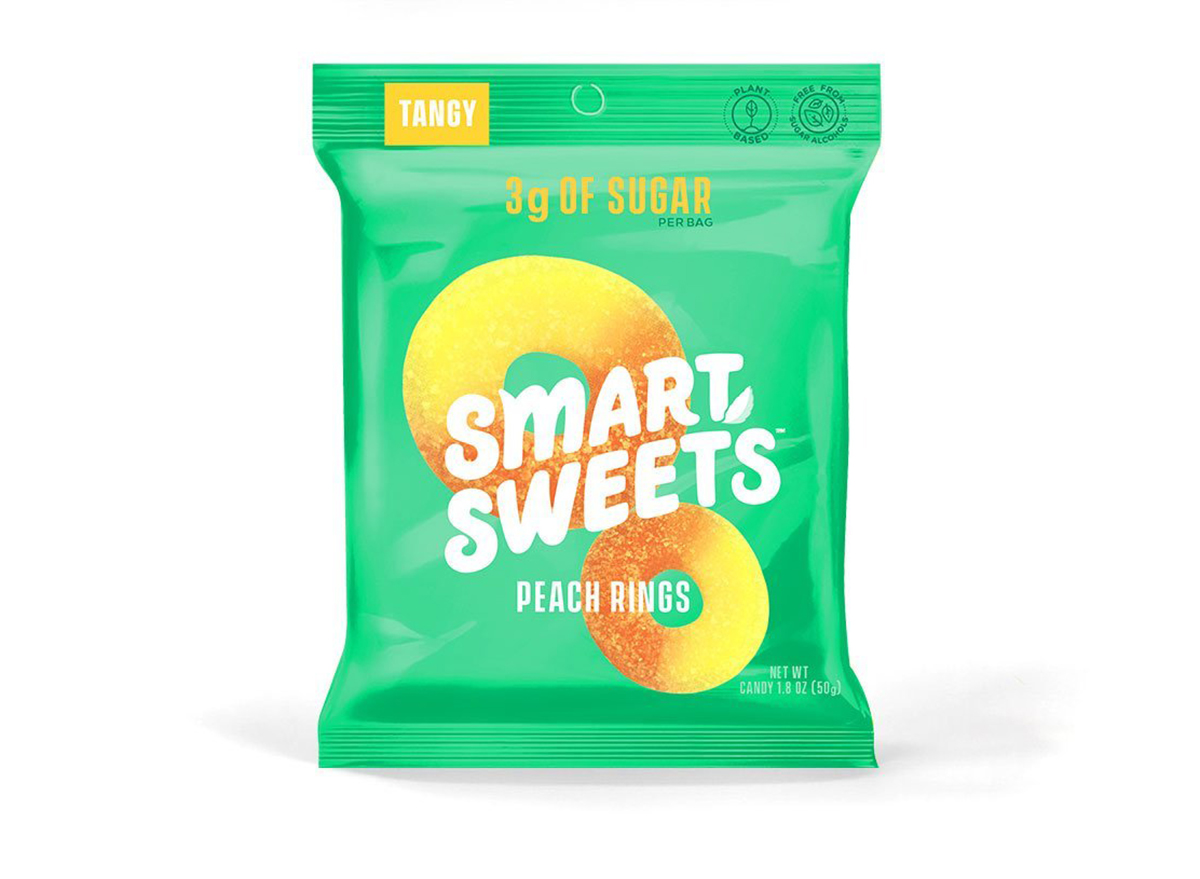 smart sweets peach rings bag