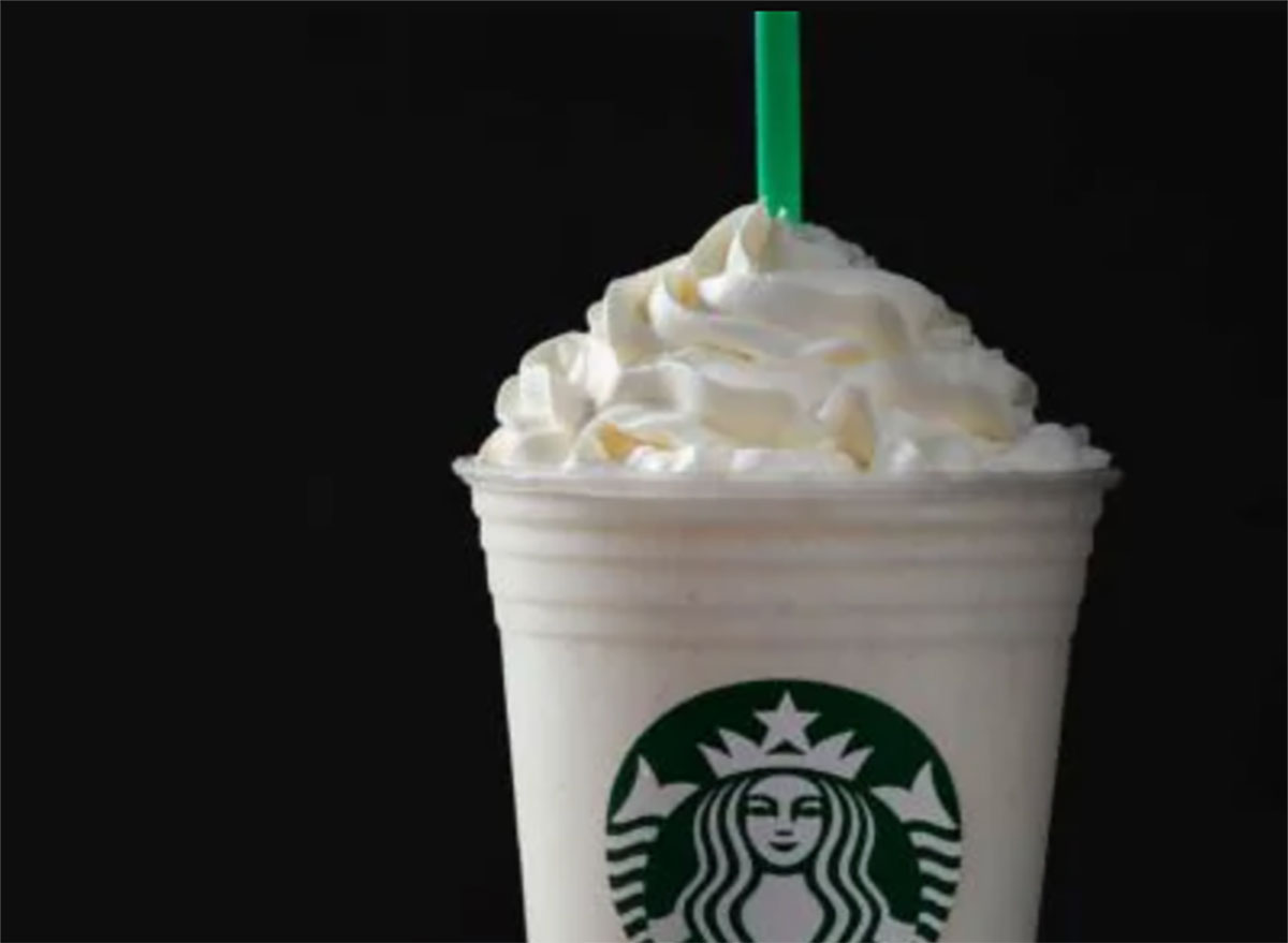 starbucks cotton candy frappuccino on black background