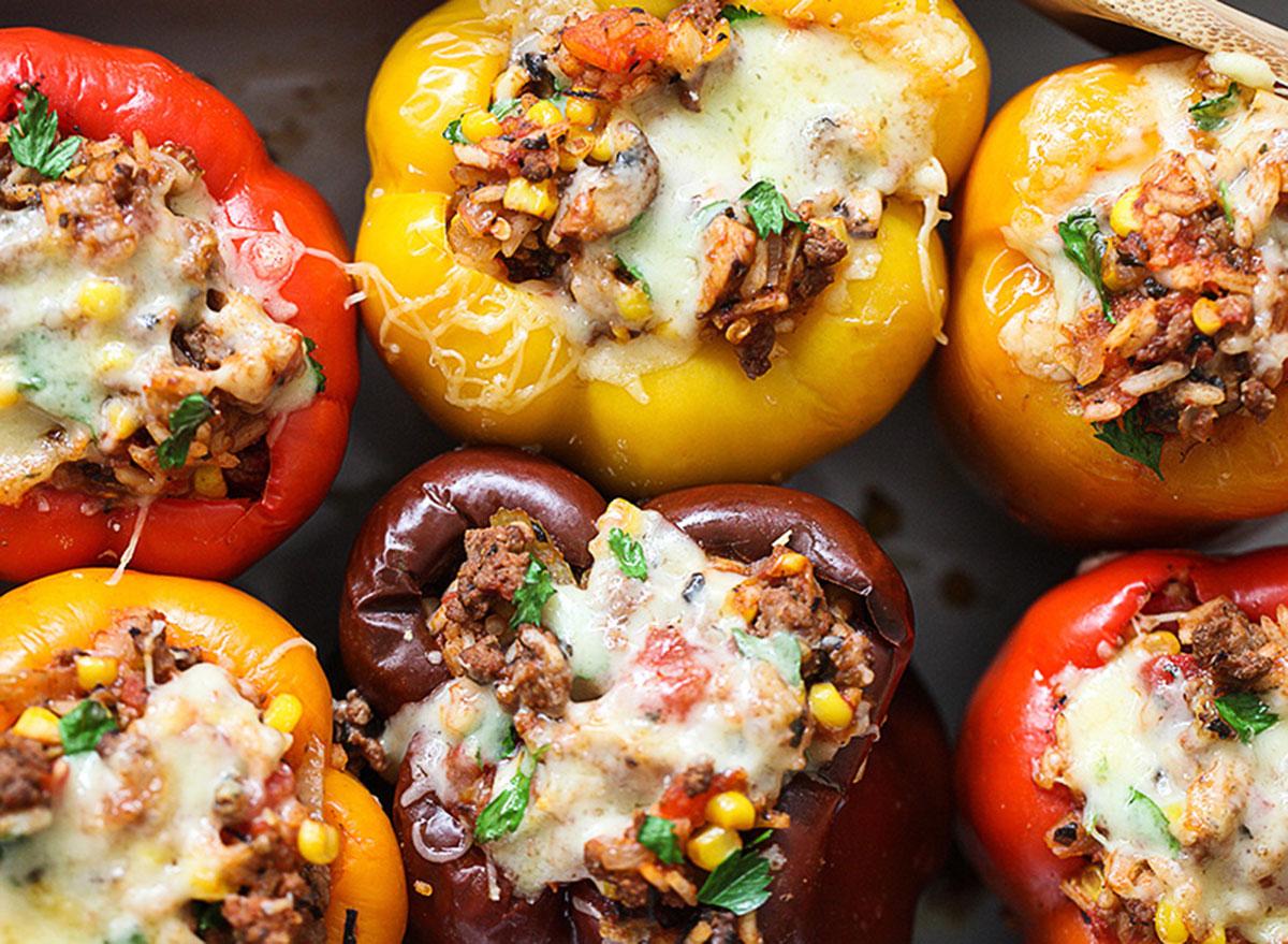 ground beef stuffed peppers foodie crush recipe
