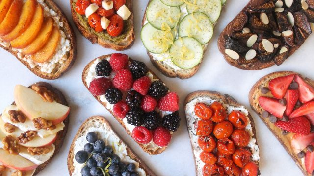 Table of toast toast combinations