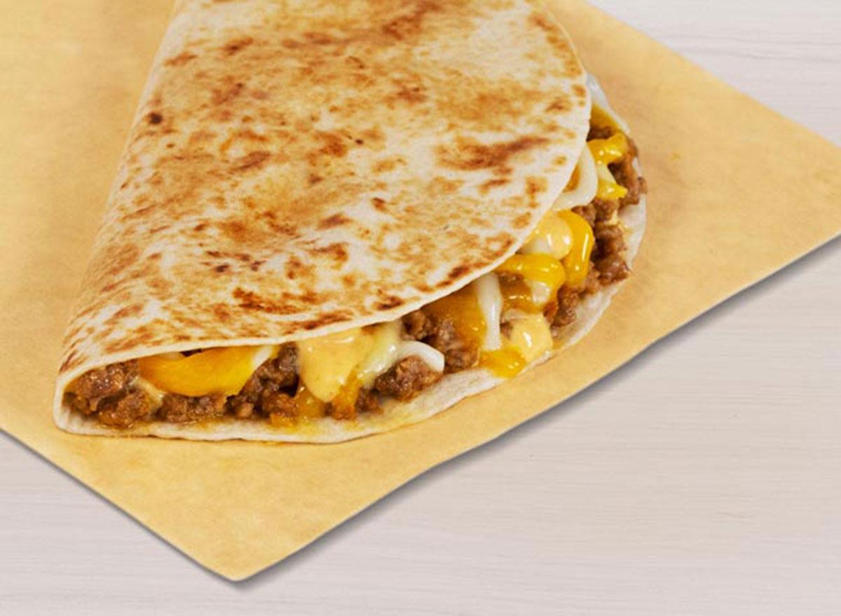 taco bell beefy mini quesadilla best