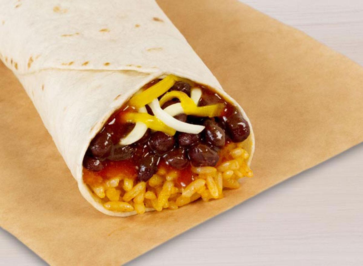 taco bell black bean burrito best
