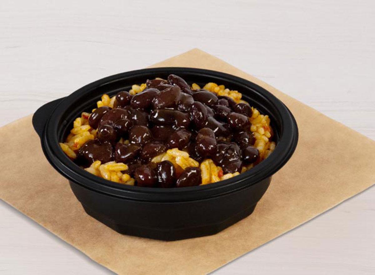 taco bell black beans rice best