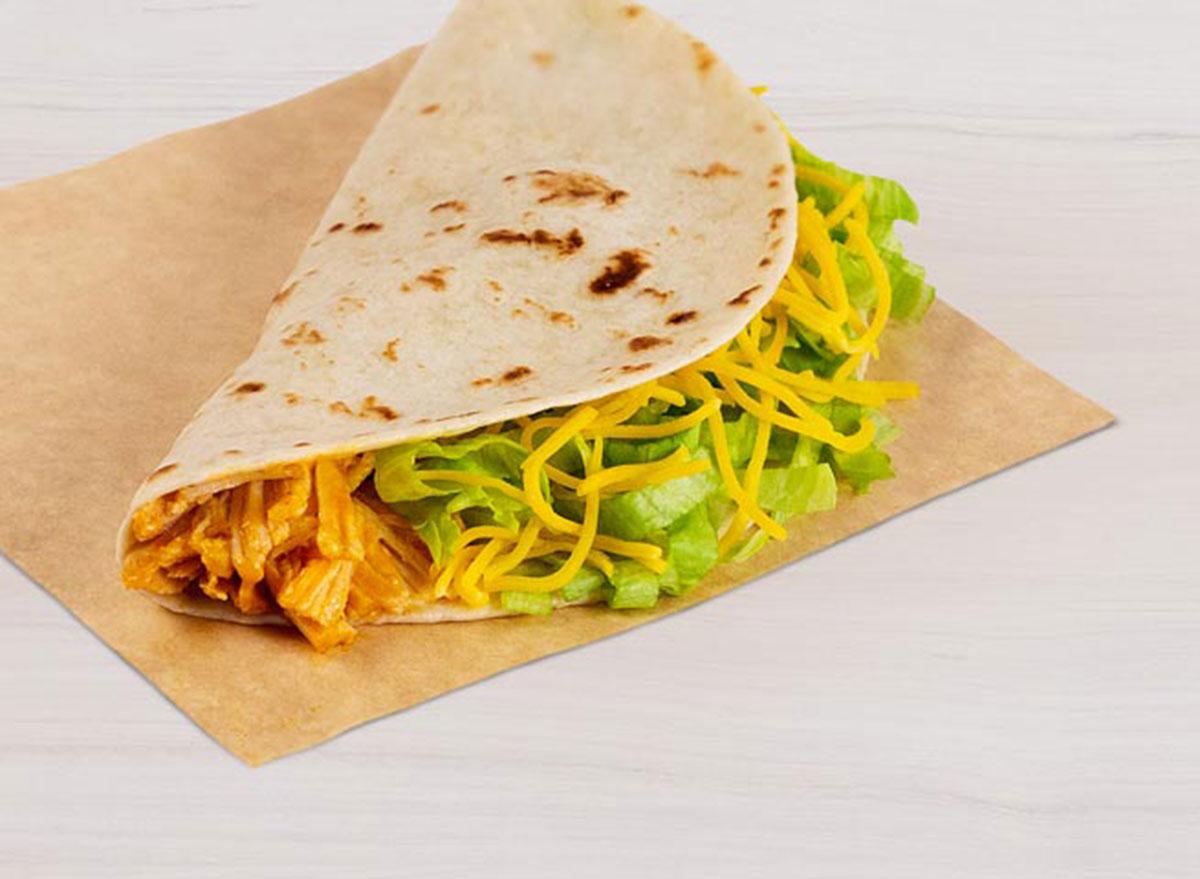 taco bell chicken soft taco best
