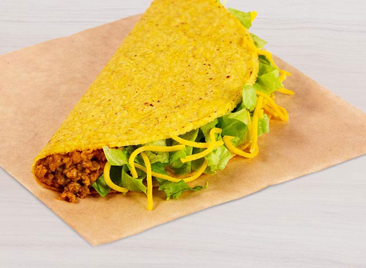 taco bell crunchy taco best
