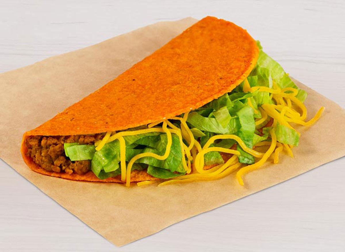 taco bell nacho cheese doritos locos taco best
