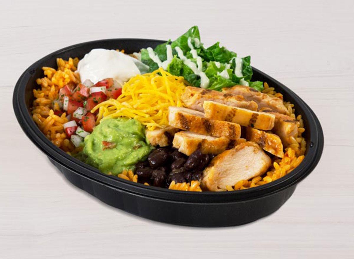 taco bell power menu bowl chicken best
