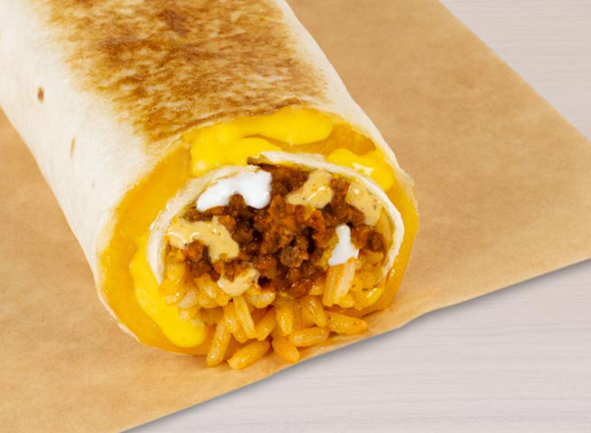 taco bell quesarito beef worst