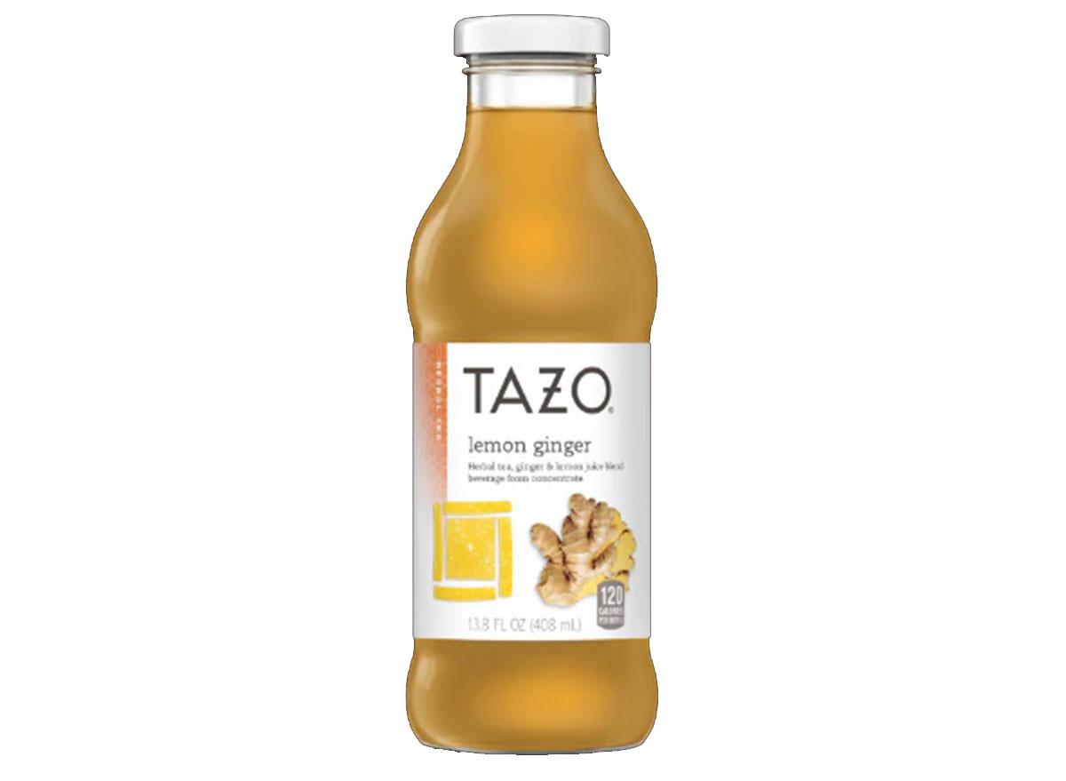 tazo lemon ginger tea bottle