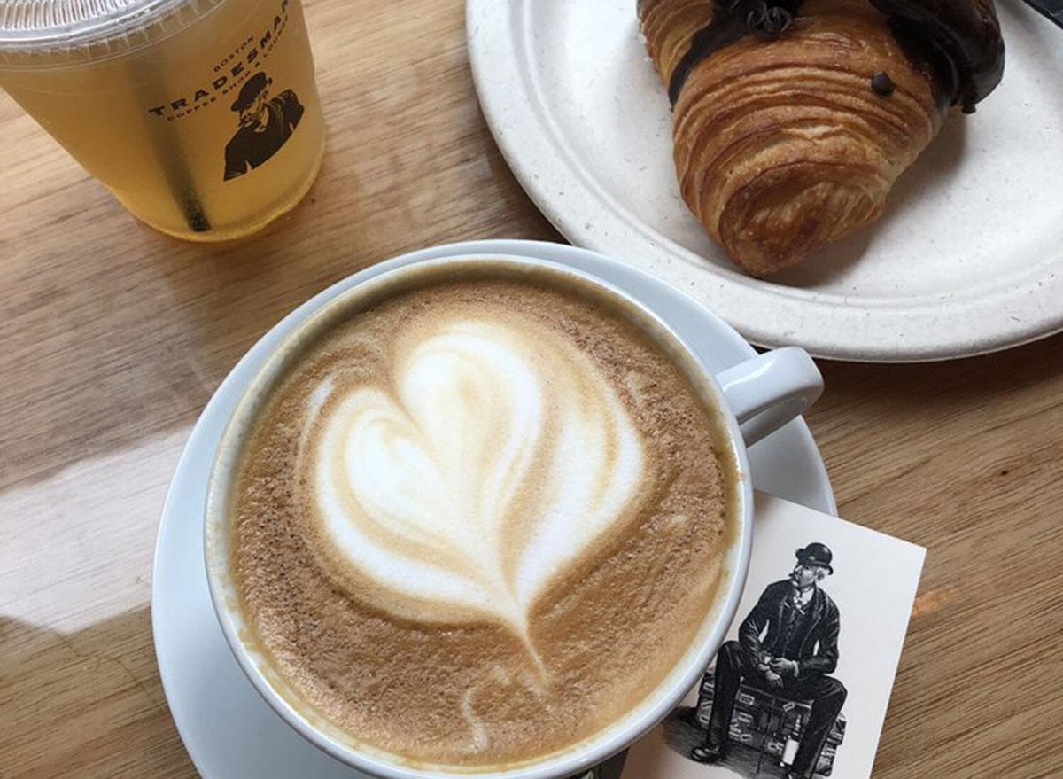 tradesman coffee shop lounge breakfast spread