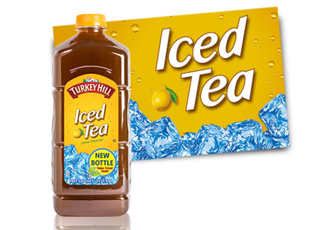turkey hill lemon tea bottle