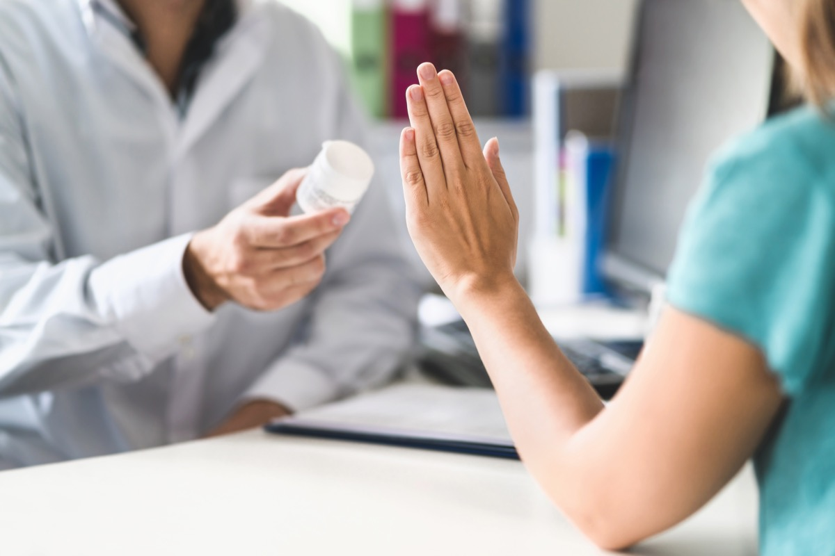 Patient refusing to use medication