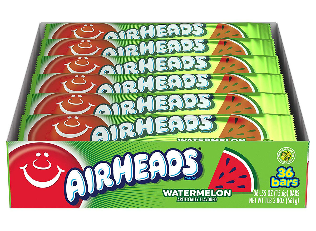 box of watermelon airheads