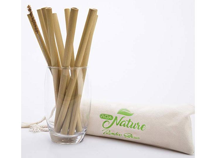 aqa nature bamboo straws