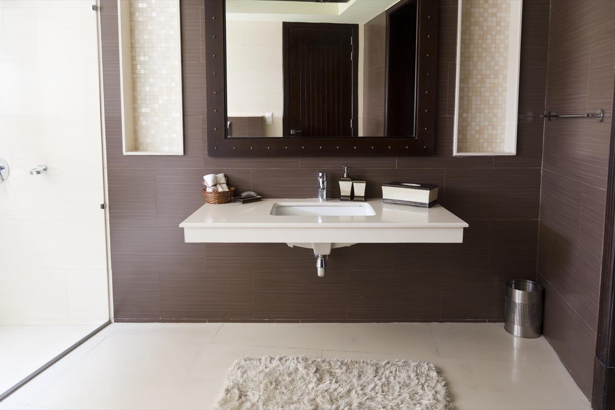 modern bathroom with white wash basin