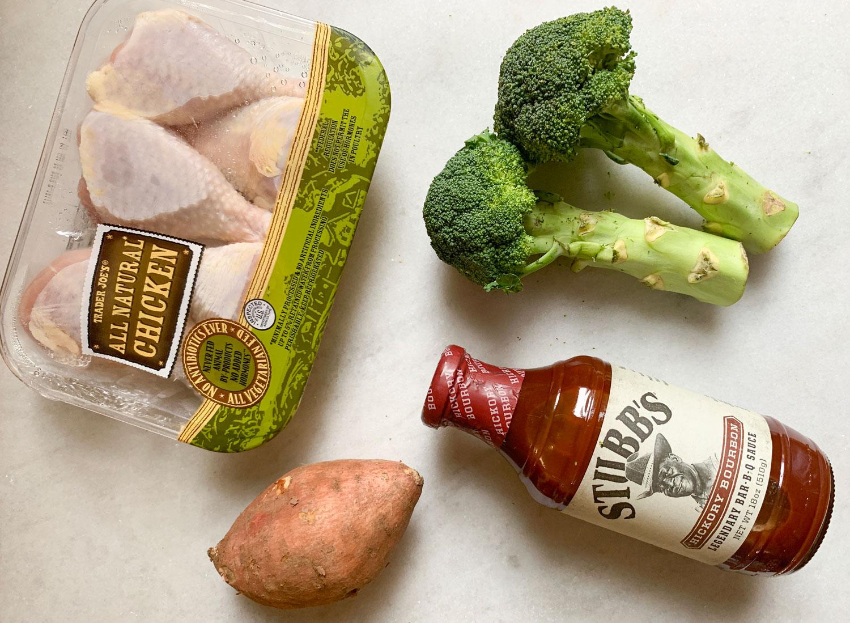 bbq chicken sheet pan dinner ingredients
