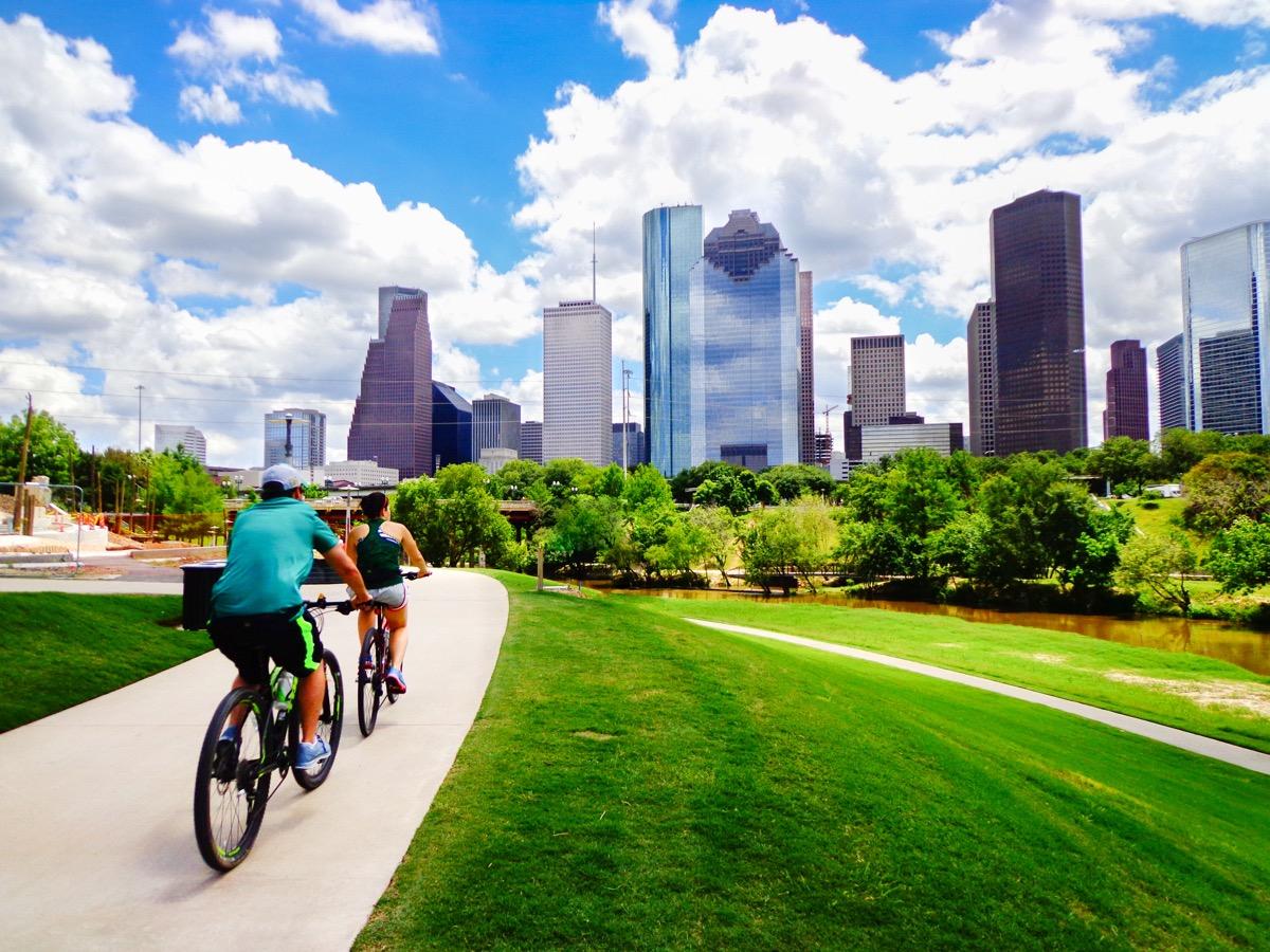 bikers in the park