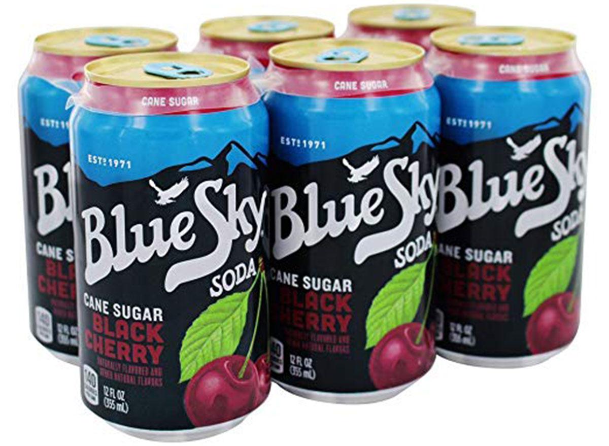 blue sky organic black cherry soda 6-pack cans